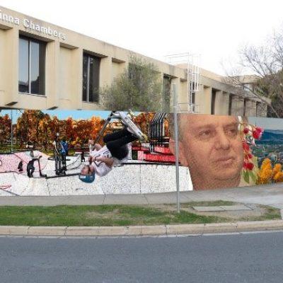Melrose Drive Mural, Woden