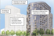 Geocon seeking reconsideration of the WOVA decision (DA 201833492) to increase the height of the building on Melrose Drive