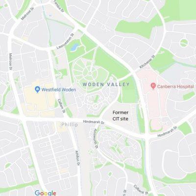 Former Woden CIT site – opposite the Canberra Hospital